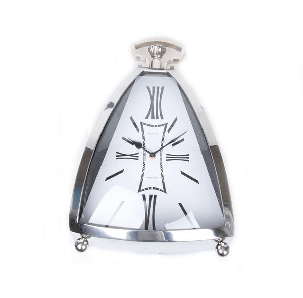 Krom Kaplama Roma Rakamlı Masa Saati resmi