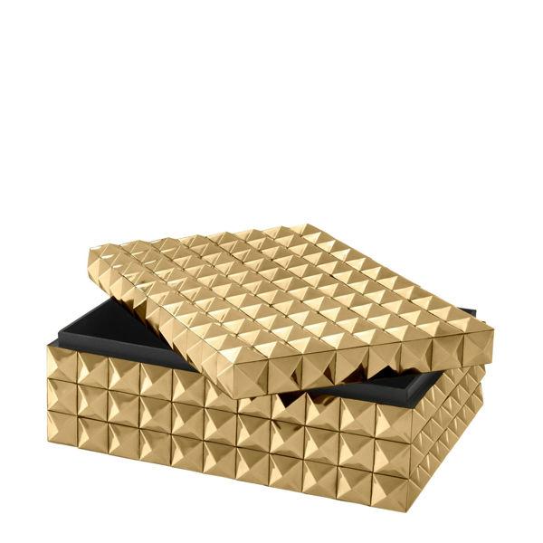 Gold Renkli Dekoratif Kutu resmi