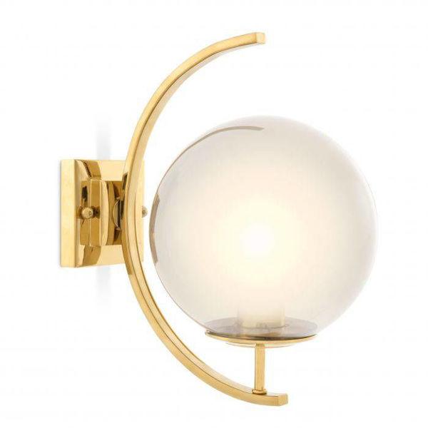 Eğimli cam küre gold aplik resmi
