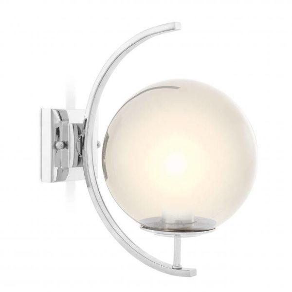 Eğimli cam küre krom aplik resmi