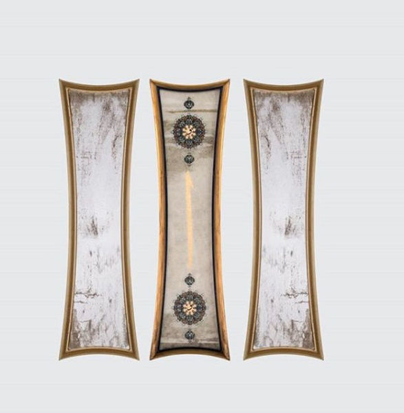3'lü Antik ayna ve tablo takım resmi