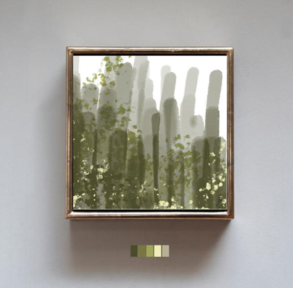 Abstract Cactus resmi