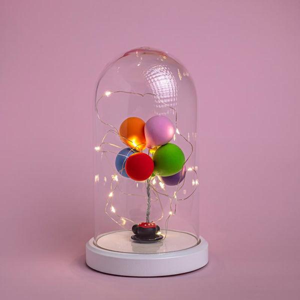 Işıklı Cam Fanus Balon Figürlü Lamba resmi