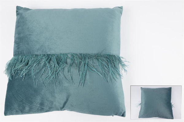 Mint Yeşil Tüylü Yastık resmi