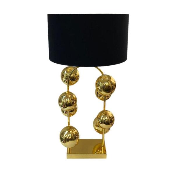 Modern Gold Toplu Abajur resmi