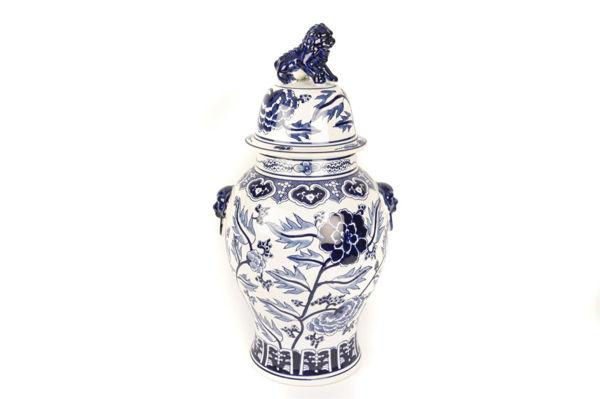 Çin Aslanlı Porselen Küp 62 cm resmi