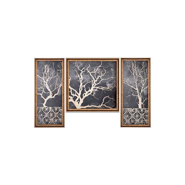 Ağaç Desenli Tablo 3'lü Set resmi