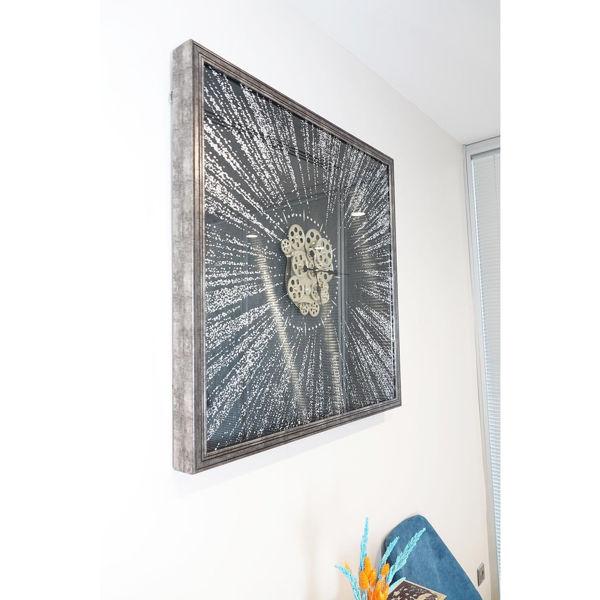 Varak Kaplamalı Çarklı Duvar Saati resmi