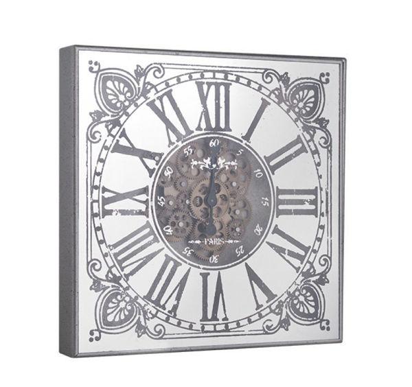 Çarklı Gümüş Duvar Saati resmi