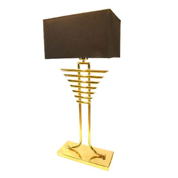 Gold Metal Kılçık Abajur resmi